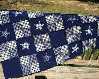 Primitive rag quilt