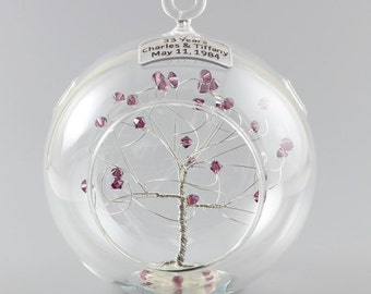 Personalized Ornament Any Anniversary Gift Idea with Swarovski Crystal Elements