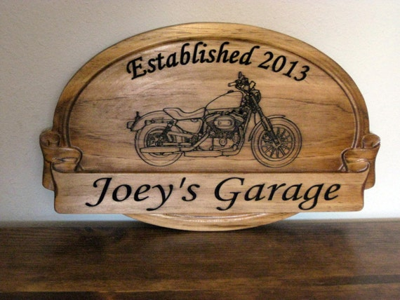 Man Cave Garage Gifts : Sign with harley davidson graphic unique gifts for him garage