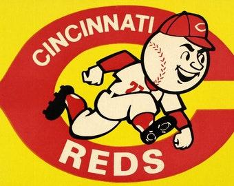 1970 CINCINNATI REDS print - Vintage Baseball Poster