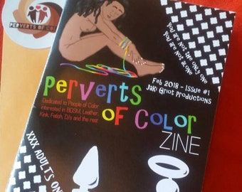 Perverts of Color Zine - Issue #1, Feb 2018, Glossy Print 5.5 x 8 in