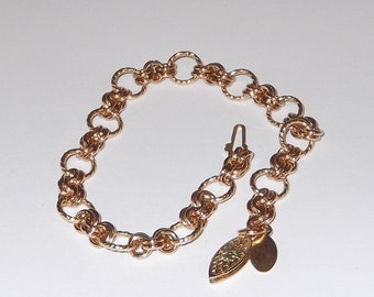 14K Gold Filled, Chainmaille, Charm, Bracelet/Bracelet Only, Charms Separate - GFChB1