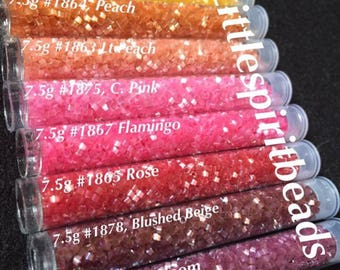 Delica beads Silky Satin set by Miyuki size 11/0. 8 colors
