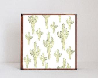 southwestern nursery art , cactus nursery art nursery prints, cacti nursery decor- kids playroom- southwest- redtilestudio