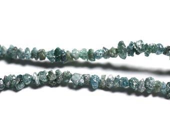 10pc - precious stone beads - 2mm - 4558550090621 blue rough diamond