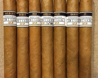 Groomsman Cigar Bands - Grooms Gift - Wedding Party and Groomsman Cigar Bands - Wedding Reception Cigar Bar - Cigar Station - 5 Bands