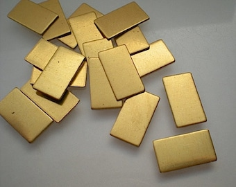 18 small flat brass rectangle stamping blanks