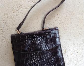 Dark Brown Mulberry Structured Bag