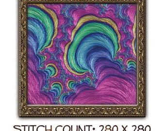 Fractal Cross Stitch Pattern 4550 Patterns Instant Download pdf Cross Stitch Design