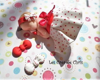 baby girl skirt and Halter in polymer clay.