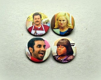 Parks and Recreation - pinback button or magnet 1.5 Inch