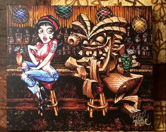 Ruby's Dilemma Limited Edition Giclee Print on Canvas