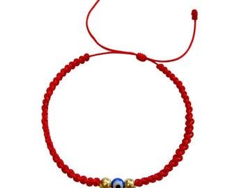 Red String Bracelet, Evil Eye Bracelet for Protection • Adjust to All Sizes • Waterproof • Best Quality Evil Eye Bracelet • Handmade