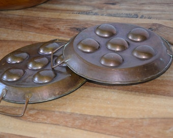 Antique copper baking pair mould baking form old Kitchen Decor