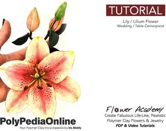 Polymer Clay Tutorial, DIY Jewelry, DIY Flowers, Table Centrepiece, Clay Flowers, Flowers Tutorial, Decoration, DIY Handmade Bead, Video