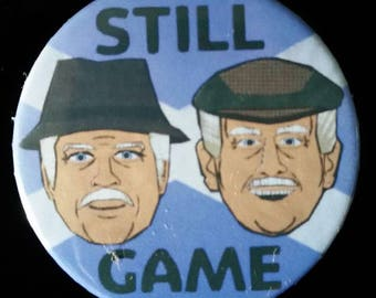 Still Game. Jack & Victor. Custom 38mm Pin Badge.