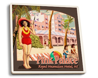 HI - Royal HIan Hotel - LP Artwork (Set of 4 Ceramic Coasters)