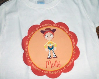Personalized Toy Story Inspired Jessie Birthday (or non-birthday) Shirt or Bodysuit