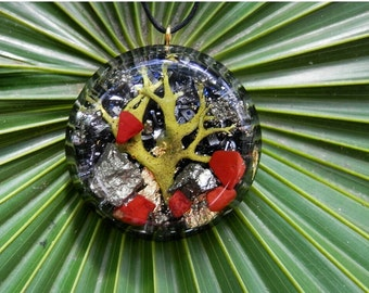 Orgone Pendant. Orgone Jewelry. Crystals Energy healing. Amulet protector and energy generator.