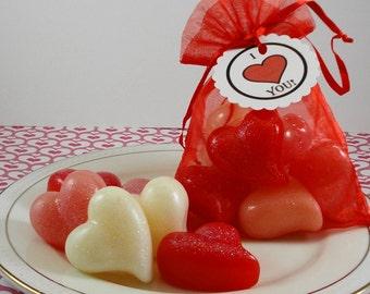 Little Hearts of Love - Valentine's Day Soap - Wedding Favors Soap - Guest Soaps - Tear Drop Shaped Soap - Mini Soap