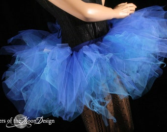 Trashy royal blue tutu skirt Adult dance bridal roller derby costume wonder woman race run cosplay -You choose Size- Sisters of the Moon