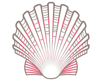 Scallop Shell PDF Hand Embroidery Pattern