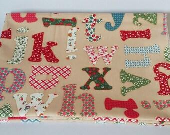Colorful Alphabets Letters Cotton Canvas