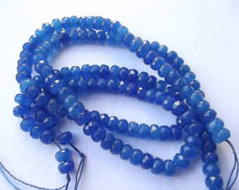 72 faceted jade beads dyed 5 x 8 mm CHEBAR 511