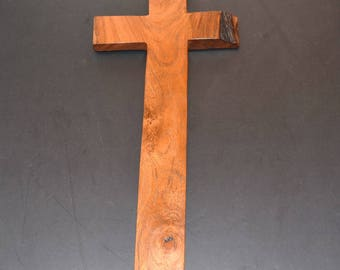 Wooden wall cross;Rustic Wall Decor;Crooked Cross;wood crosses;unique wall cross decor;live edge cross;Free Ground Shipping; cc40-1022317-rs