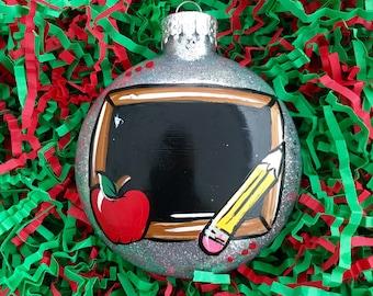 READY TO SHIP - Personalized Teacher Gift - Teacher Ornament - Gift for Teacher - Christmas Present for Teacher - Teacher Sign