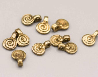10 Small Brass Swirl Infinity Pendant 7x10mm SKU-PENB-34