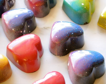 Chocolate Truffle box,  featured  on BuzzFeed, 9 pcs hand painted Chocolates filled with fruit ganache, hazelnut praline, caramel