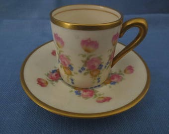Vintage Concorde Fine China Demitasse Cup and Saucer made in U.S.