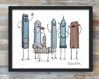 Philadelphia Skyline- art print