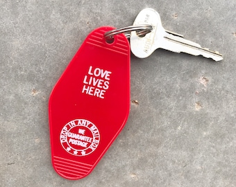 Love Lives Here Vintage Keychain //  Original Gifts // Gifts for Her // Unique Gifting Ideas // Gifts for All // Birthday Gift Ideas