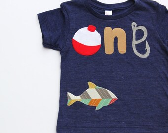 Fishing Theme Birthday Shirt, Fishing Birthday Shirt, First Birthday Shirt