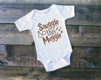 Snuggle This Muggle Newborn Bodysuit Toddler Tshirt Baby Boy Outfit Baby Girl Outfit Muggle Tshirt Muggle Outfit OOTD