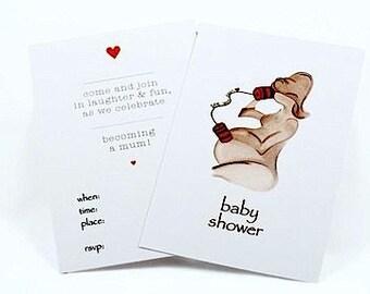 Baby Shower Original Art Invitations 'See You Soon' 10pk