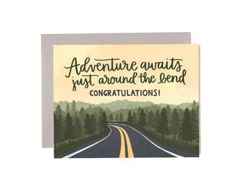 Adventure Waits Illustrated Card // 1canoe2