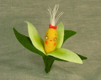 Sweet Corn Baby, MADE TO ORDER, with or without pin back
