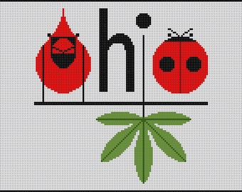 Ohio Needlepoint Pattern