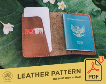Leather Passport Holder \\ Template Pattern PDF \\ Leather Crafting \\ PDF Pattern \\ Leathercraft Pattern \\ Leather Pattern \\ DIY pattern