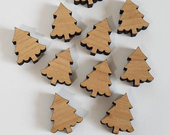 Wooden Christmas/ Pine Tree Cut Outs ( Holiday Decor, Mixed Media, Scrap Booking, Embellishments  )