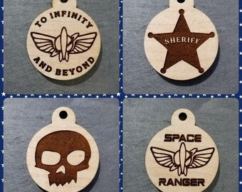 Toy Story Themed Dog Tags