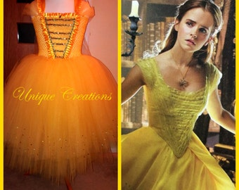 Beautiful Belle long tutu dress from new movie 2017