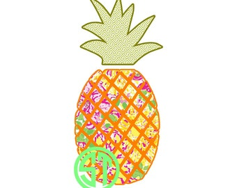 Pineapple Applique Embroidery Design READY TO SEW