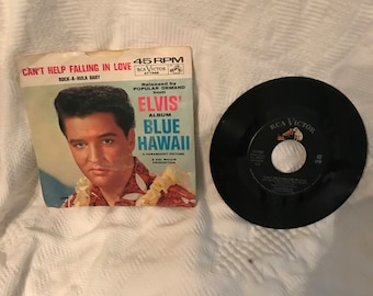 ELVIS Presley Blue Hawaii/Can't Help Falling in Love 45