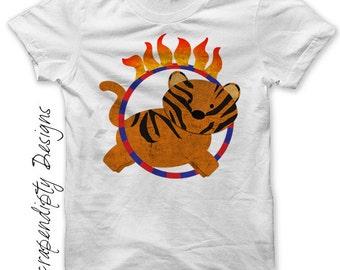 Tiger Iron on Transfer - Iron on 1st Birthday Circus Shirt PDF / Circus Birthday Outfit / Kid Tiger Shirt / Baby Shower Gift Digital IT389