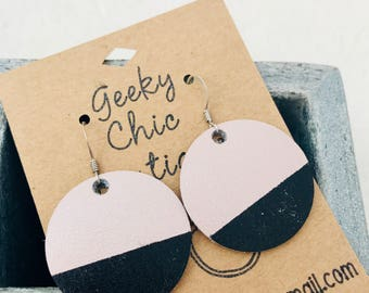 Round Rose Gold Dipped Earrings