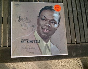 33 RPM LP Record Nat King Cole Love Is The Thing Capitol Records W-824 NM